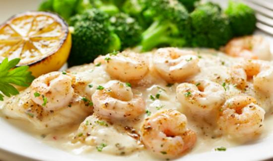 baked tilapia with shrimp and cream sauce picture of olive garden covington tripadvisor