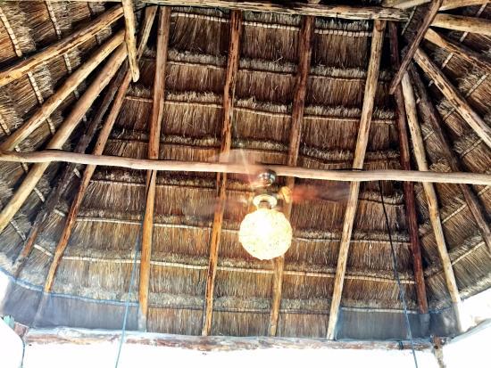 Nacional Beach Club & Bungalows: Piedra Bungalow -- palapa ceiling