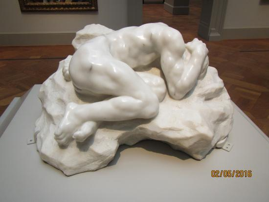Fetal Position Bed rodin's marble sculpture of man in fetal position - picture of