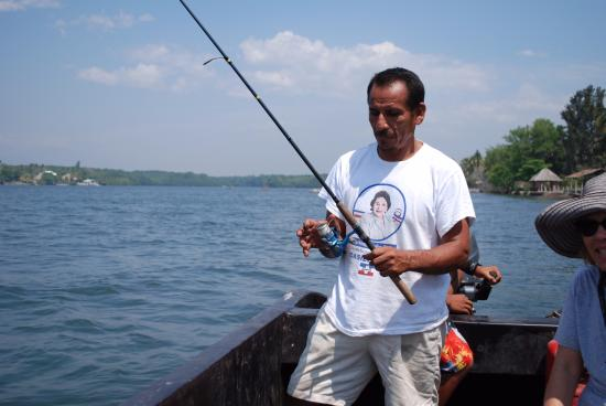 Barra de Santiago, El Salvador: trolling for fish in the afternoon