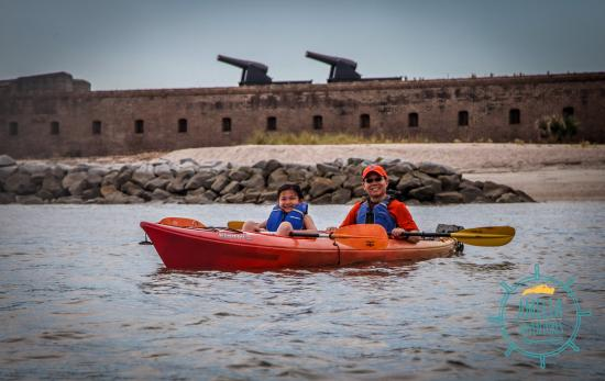 Kayaking By Fort Clinch Picture Of Amelia Adventures