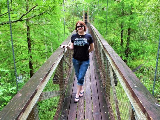 Palatka, Floride : On the swinging bridge