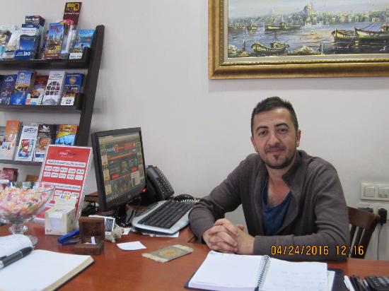 Basileus Hotel: Omar at the front desk - THANK YOU!!!