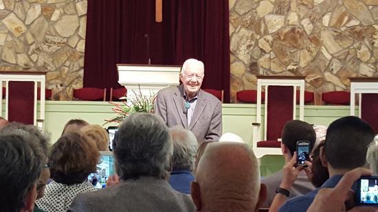 Plains, GA: President Jimmy Carters Sunday School Class.