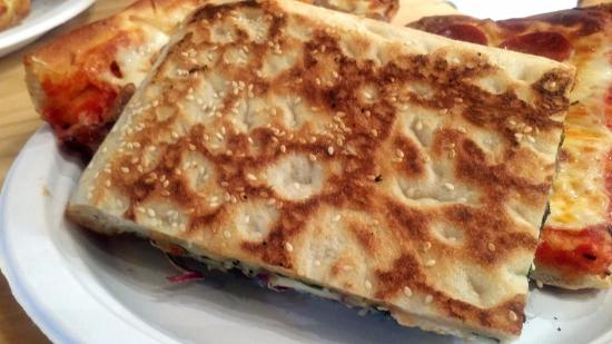 Broomall, PA: Underside of pie includes sesame seeds