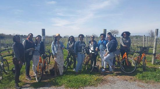 North Fork Bicycle Tours: First stop at the vineyard