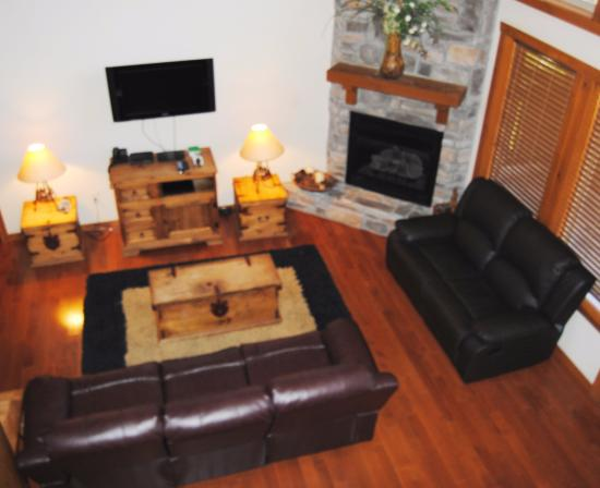 Great Branson Cabins: New Couch and love seat in Twin Pines!