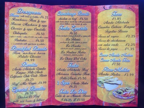 San Ysidro, แคลิฟอร์เนีย: New menu