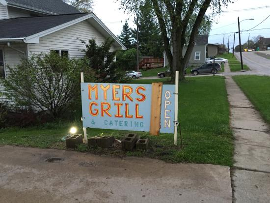 Myers Grill & Catering: Sign on main highway