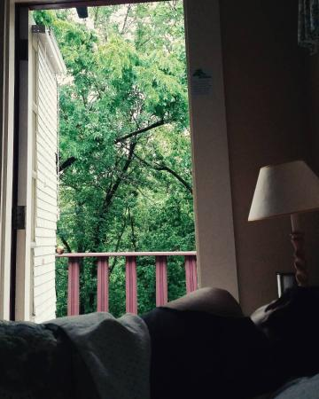 Hidden Springs Bed and Breakfast: The view from Tobe Smith Cottage bed! PERFECT for mornings!