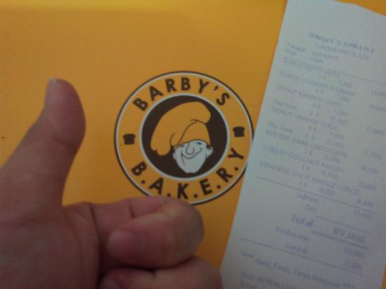 23 April 2016 Foto Nota Pembelian Kami Di Barbys Bakery Tp3