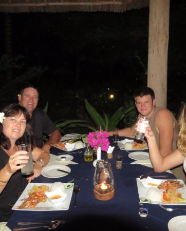 Michamvi Sunset Bay Resort: A delicious dinner together on a balmy evening.