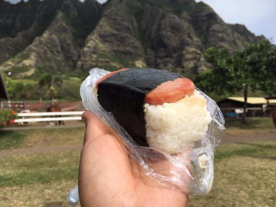 Kaneohe, HI: Spam Masubi from the snack bar