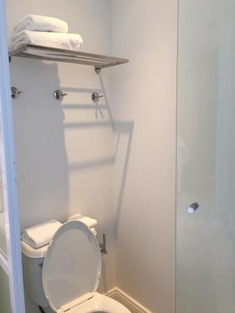 Towels And Towel Hooks Right Above Toilet Impractical And Unhygenic