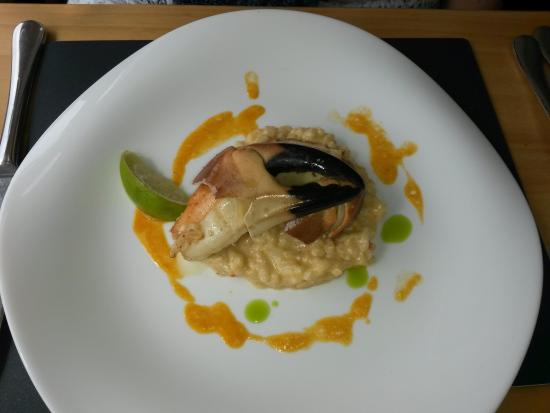 crab risotto - Picture of The View, Millbrook - TripAdvisor