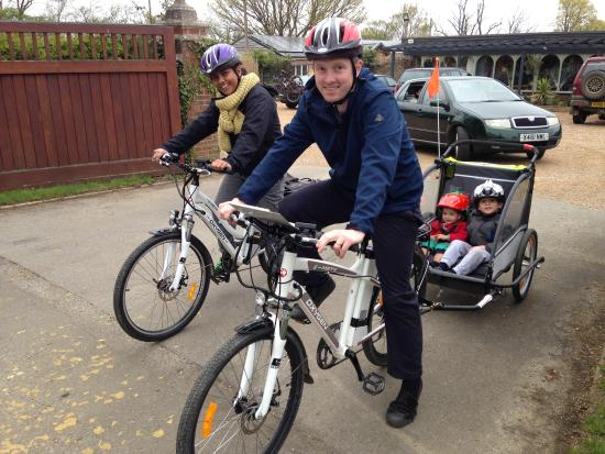 Biddenden, UK: Kevin and family out for a family day out