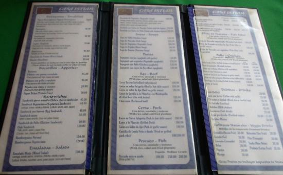 Casa Hotel Istiam: Menu en 3 volets