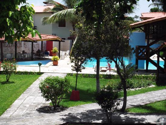Hotel Praia do Muta: Vista da varanda do apartamento.