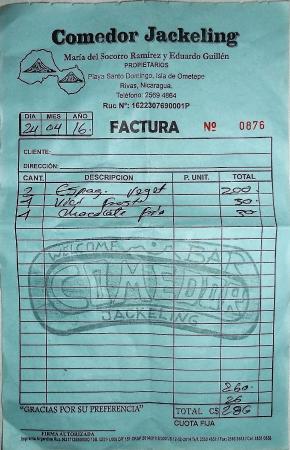 Altagracia, Nicaragua: 286 cordobas - 24 avril 2016