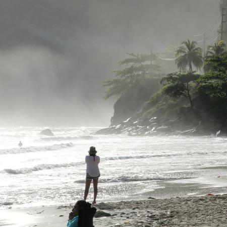 Beautiful dawn at Maracas bay. The best time is early morning. Feel the fresh salty air on your
