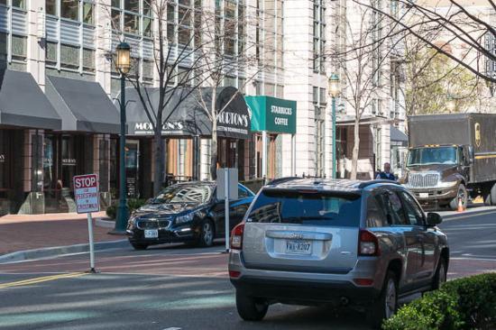 Reston, VA: Entrance Awning from Street