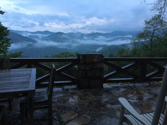 Snowbird Mountain Lodge Bed and Breakfast: View From the Porch