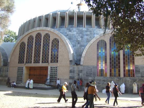 Axum, Etiopien: Jomfru Maria-kirken i Aksum
