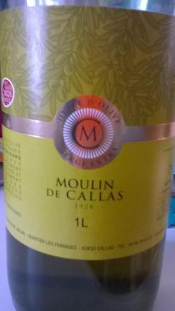Callas, France: huile d'olive vierge extra en 1 litre