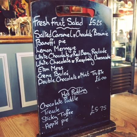 Pembury, UK: The Camden Arms Restaurant | Dessert Menu