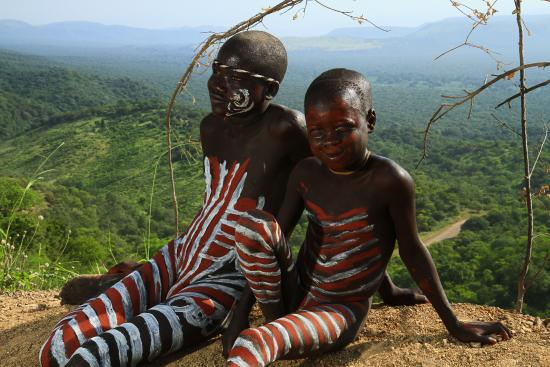 Mursi Kids Lower Omo Valley Picture Of Omo National