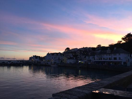 St Mawes, UK: Sunset from the terrace