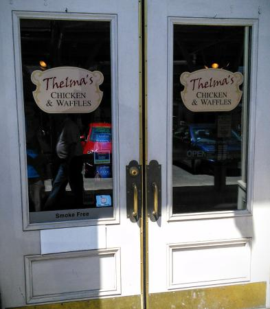 Thelma's Chicken & Waffles: Front door