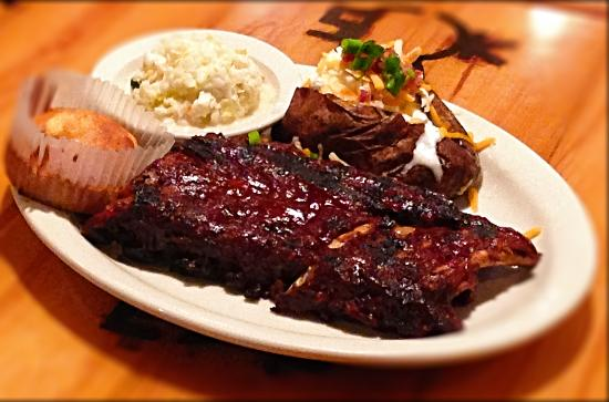 Ribs are great at Whiskey Creek Wood-Fire Grill in Mason City, Ia!