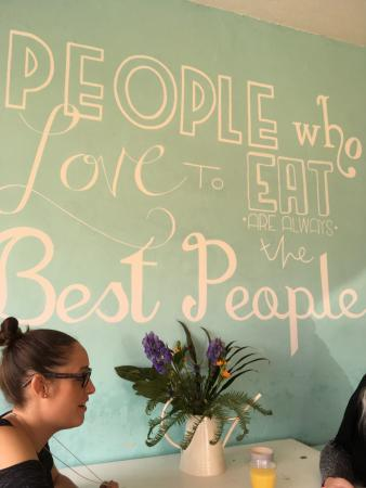 "High Wycombe, UK: ""People who love to eat are always the best people"""
