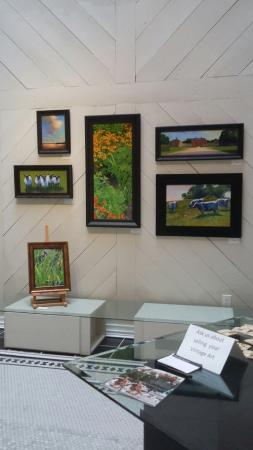"""Fine Art at Baxters: Featured """"Artist of the month"""" wall."""