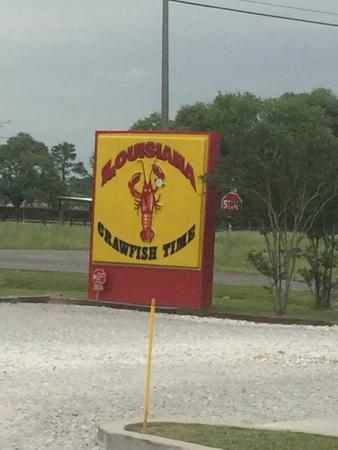 Louisiana Crawfish Time: restaurant sign