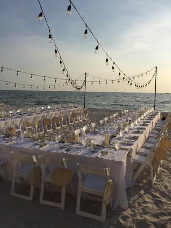 Edgewater Beach Hotel: Rehearsal Dinner on the beach