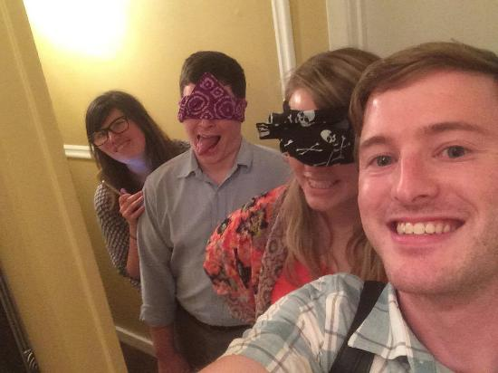 Jackson, Mississippi: We blindfolded our friends (birthday!) and woke them up from cryosleep in the spaceship.