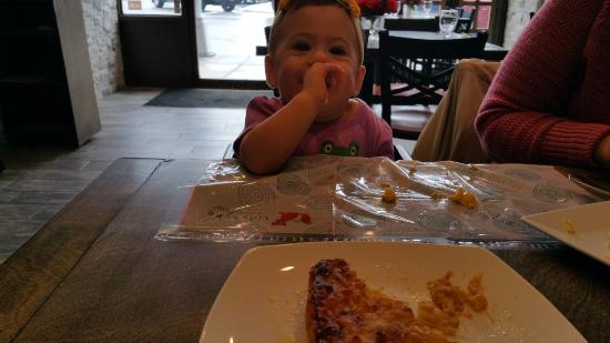 Bayside, Νέα Υόρκη: Our daughter loved the Chipa Guazu, which is an *excellent* food for 1 year old babies.