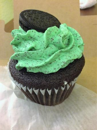 York, ME: such and amazing moist mint oreo cup cake so good !!
