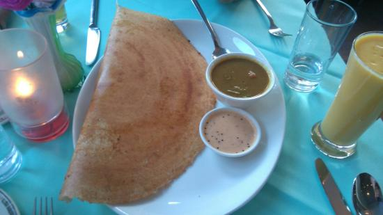 Cocum: Dosa with a mango lassi on the side