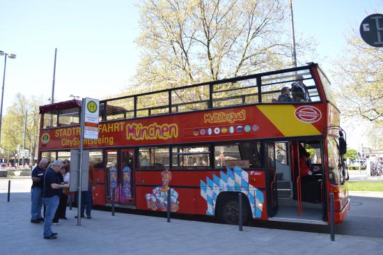 City Sightseeing Munich: rote Busse