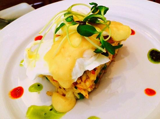 The Hub Cafe: Kedgeree with poached eggs