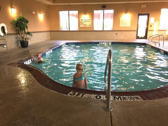 Kids Swimming At The Indoor Pool Picture Of Hampton Inn