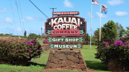 Kalaheo, Hawaï: Entry to Kauai Coffee.