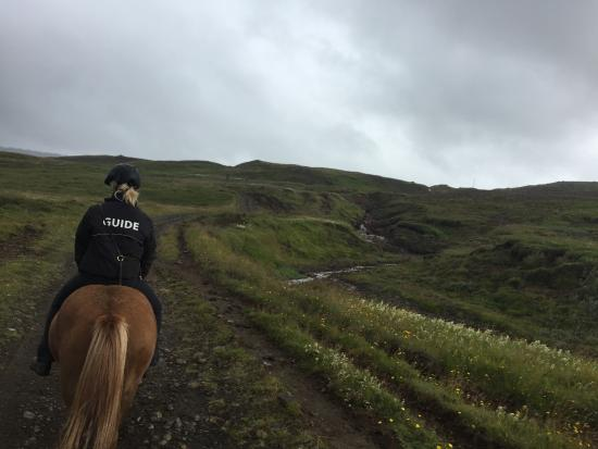 Mosfellsbaer, Islandia: Typical trail you ride through