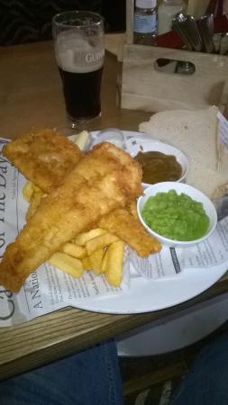Enfield, UK: Cod and chips, fantastic!.