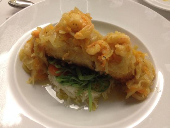 Monte Real, Portugal: Prato de peixe (bacalhau)