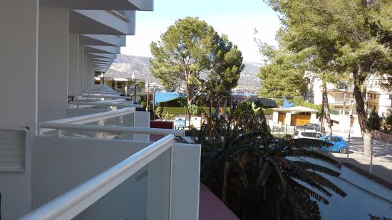 Hotel Marina Torrenova: View to the left in room 336