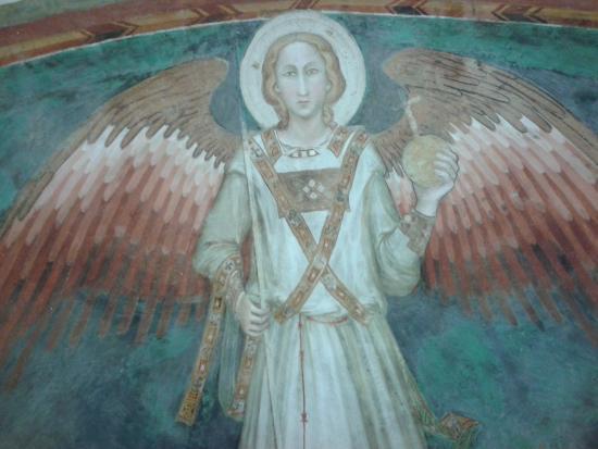 Spoleto, Italien: Affresco con angelo